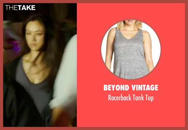 Beyond Vintage gray top from Blackhat seen with Wei Tang (Chen Lien)
