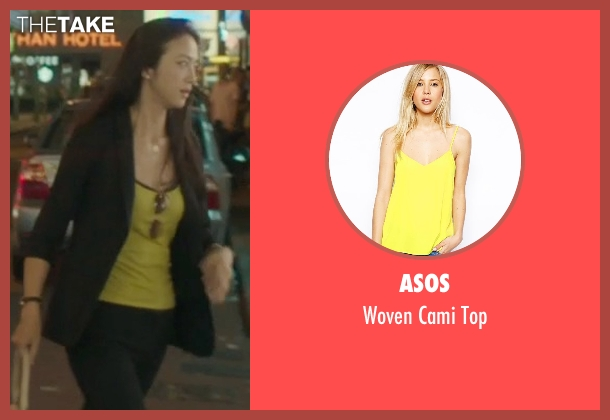 Asos yellow top from Blackhat seen with Wei Tang (Chen Lien)