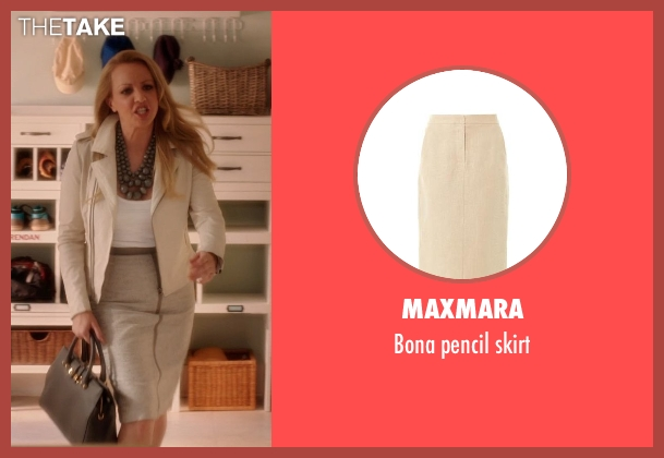 MAXMARA beige skirt from Blended seen with Wendi McLendon-Covey (Jen)