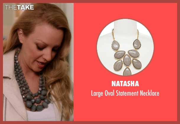 Natasha gray necklace from Blended seen with Wendi McLendon-Covey (Jen)