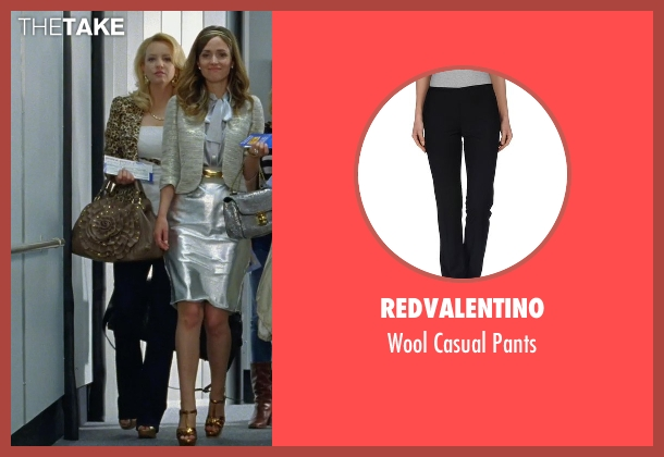 RedValentino black pants from Bridesmaids seen with Wendi McLendon-Covey (Rita)
