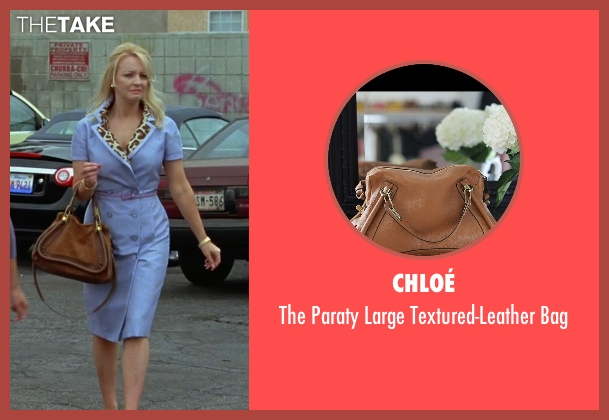 Chloé brown bag from Bridesmaids seen with Wendi McLendon-Covey (Rita)