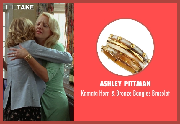 Ashley Pittman gold bracelet from Bridesmaids seen with Wendi McLendon-Covey (Rita)