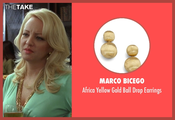 Marco Bicego gold earrings from Bridesmaids seen with Wendi McLendon-Covey (Rita)
