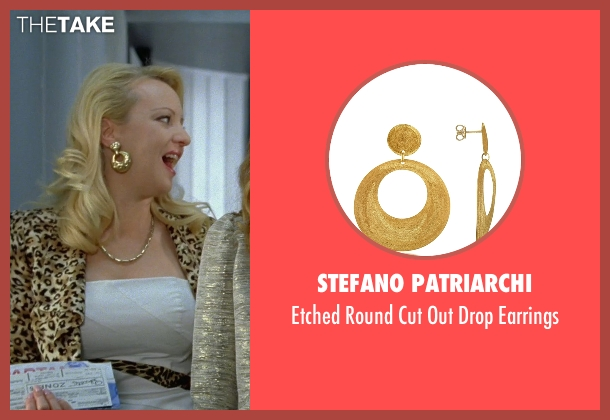 Stefano Patriarchi gold earrings from Bridesmaids seen with Wendi McLendon-Covey (Rita)