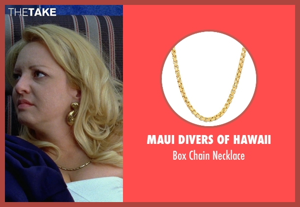 Maui Divers of Hawaii gold necklace from Bridesmaids seen with Wendi McLendon-Covey (Rita)
