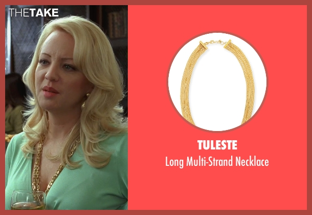 Tuleste gold necklace from Bridesmaids seen with Wendi McLendon-Covey (Rita)