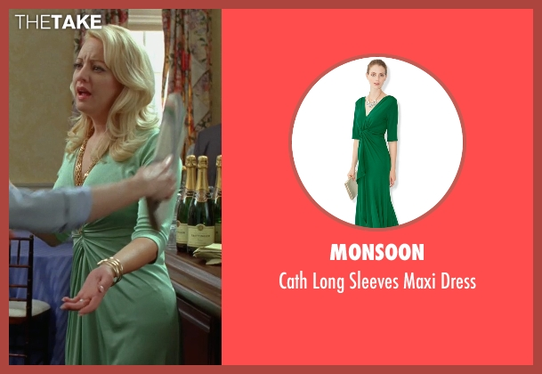 Monsoon green dress from Bridesmaids seen with Wendi McLendon-Covey (Rita)