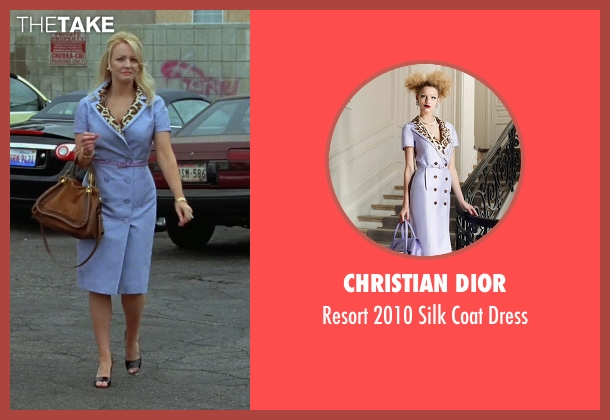 Christian Dior purple dress from Bridesmaids seen with Wendi McLendon-Covey (Rita)
