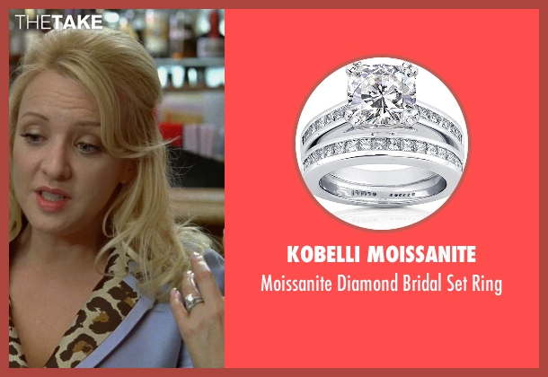 Kobelli Moissanite white ring from Bridesmaids seen with Wendi McLendon-Covey (Rita)