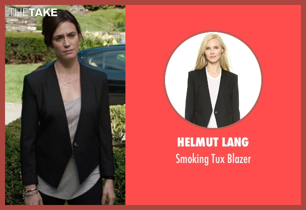 Helmut Lang black blazer from Billions seen with Wendy Rhoades (Maggie Siff)