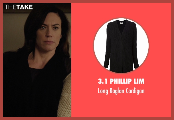 3.1 Phillip Lim   black cardigan from Billions seen with Wendy Rhoades (Maggie Siff)