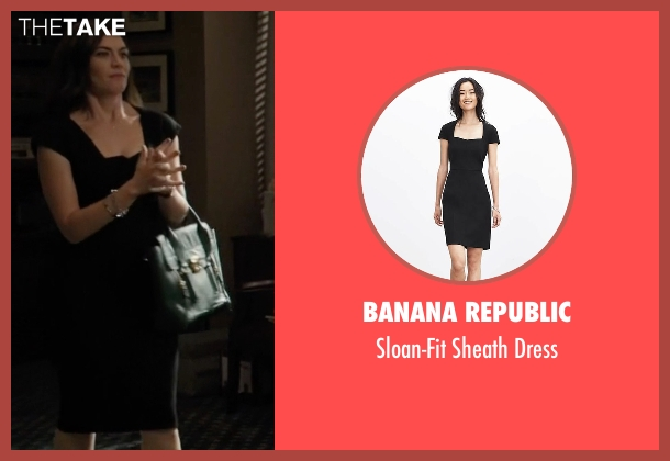 Zac Zac Posen black dress from Billions seen with Wendy Rhoades (Maggie Siff)