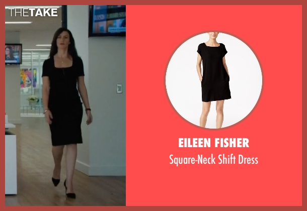 Eileen Fisher black dress from Billions seen with Wendy Rhoades (Maggie Siff)
