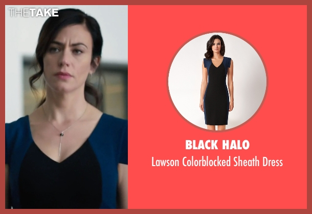 Black Halo black dress from Billions seen with Wendy Rhoades (Maggie Siff)