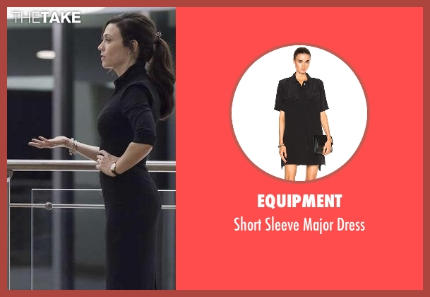 Equipment black dress from Billions seen with Wendy Rhoades (Maggie Siff)