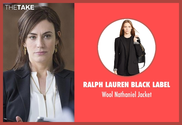 Ralph Lauren Black Label black jacket from Billions seen with Wendy Rhoades (Maggie Siff)
