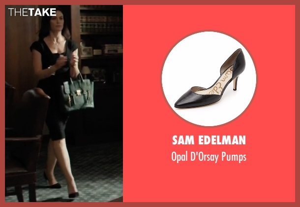 Sam Edelman black pumps from Billions seen with Wendy Rhoades (Maggie Siff)