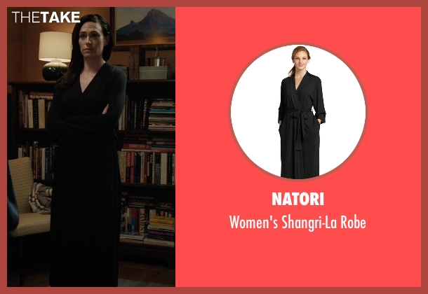 Natori black robe from Billions seen with Wendy Rhoades (Maggie Siff)