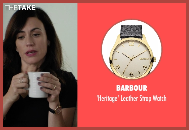 Barbour black watch from Billions seen with Wendy Rhoades (Maggie Siff)