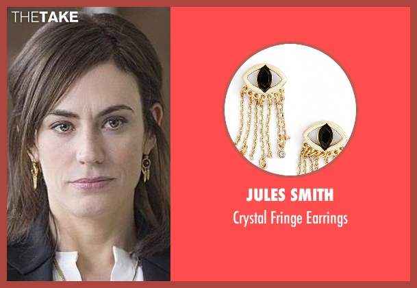 Jules Smith gold earrings from Billions seen with Wendy Rhoades (Maggie Siff)