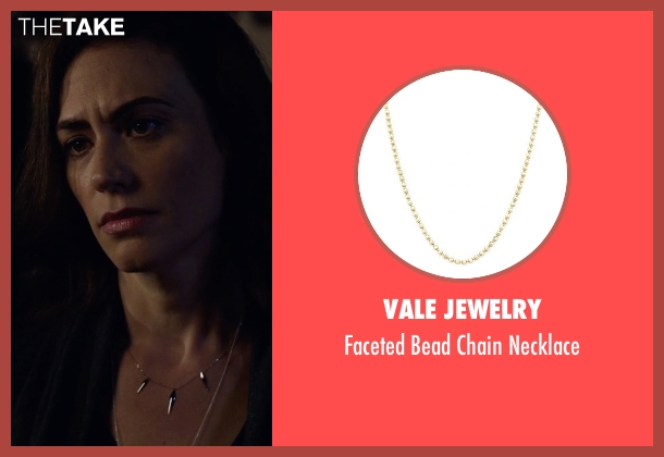 Vale Jewelry gold necklace from Billions seen with Wendy Rhoades (Maggie Siff)