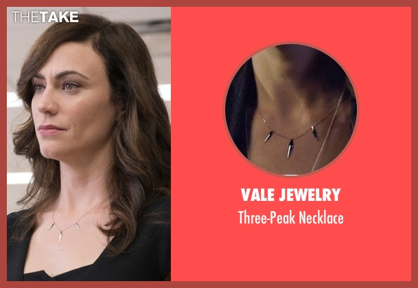 Vale Jewelry silver necklace from Billions seen with Wendy Rhoades (Maggie Siff)