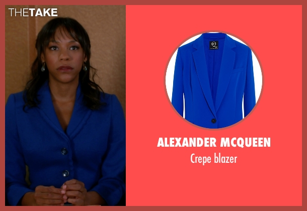 Alexander Mcqueen blue blazer from The Good Wife seen with Wendy Scott-Carr (Anika Noni Rose)