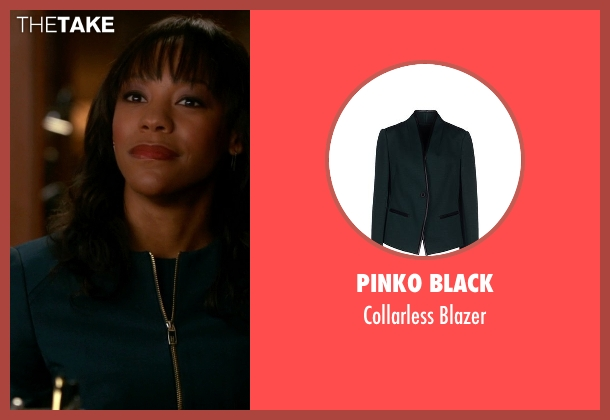 Pinko Black green blazer from The Good Wife seen with Wendy Scott-Carr (Anika Noni Rose)