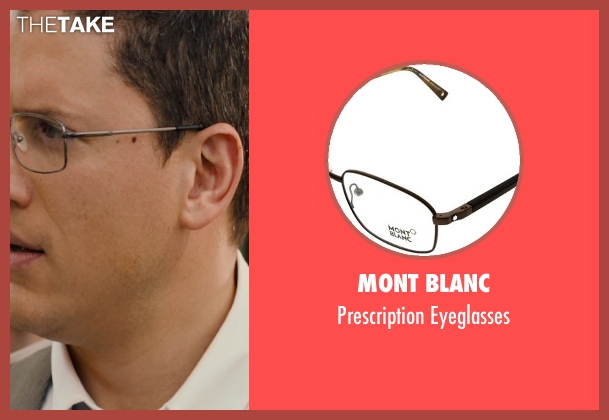 Mont Blanc black eyeglasses from The Loft seen with Wentworth Miller (Luke Seacord)