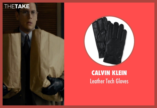Calvin Klein black gloves from The Loft seen with Wentworth Miller (Luke Seacord)