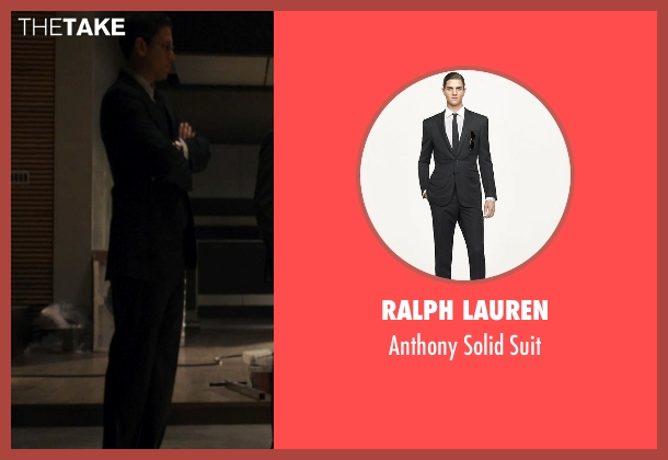 Ralph Lauren black suit from The Loft seen with Wentworth Miller (Luke Seacord)