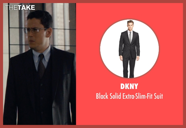 DKNY black suit from The Loft seen with Wentworth Miller (Luke Seacord)
