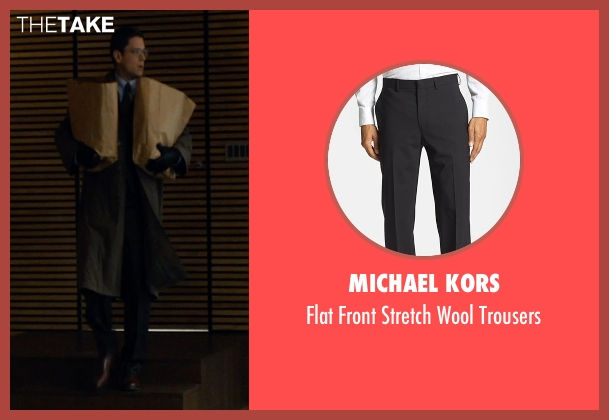 Michael Kors black trousers from The Loft seen with Wentworth Miller (Luke Seacord)