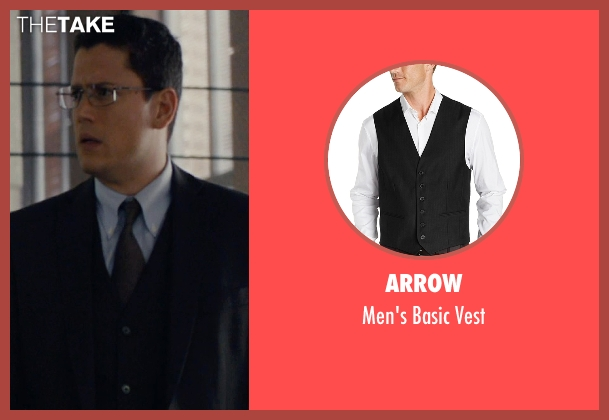 Arrow black vest from The Loft seen with Wentworth Miller (Luke Seacord)