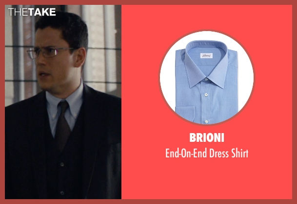 Brioni blue shirt from The Loft seen with Wentworth Miller (Luke Seacord)
