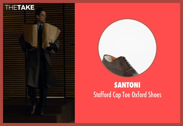 Santoni brown shoes from The Loft seen with Wentworth Miller (Luke Seacord)