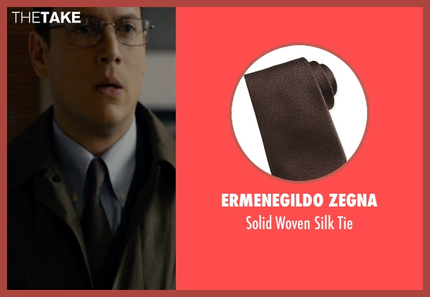 Ermenegildo Zegna	 brown tie from The Loft seen with Wentworth Miller (Luke Seacord)