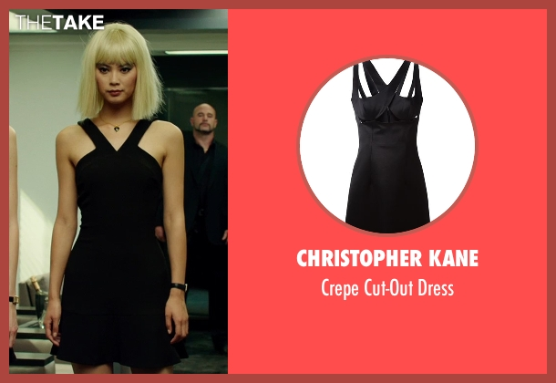 Christopher Kane black dress from The Transporter: Refueled seen with Wenxia Yu (Unknown Character)