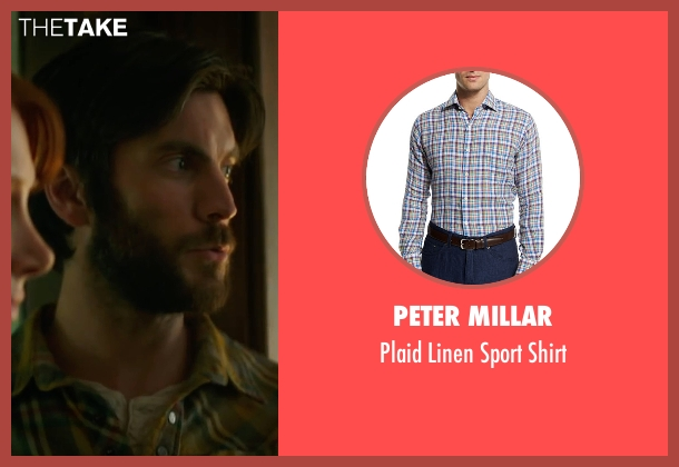 Peter Millar blue shirt from Pete's Dragon seen with Wes Bentley (Jack)