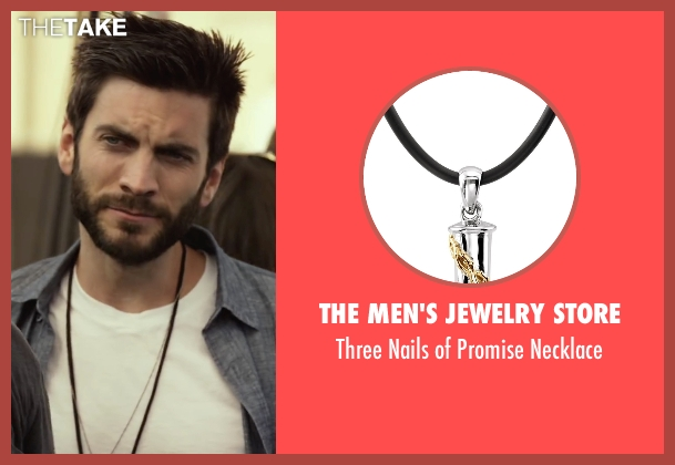 The Men's Jewelry Store black necklace from We Are Your Friends seen with Wes Bentley (James)