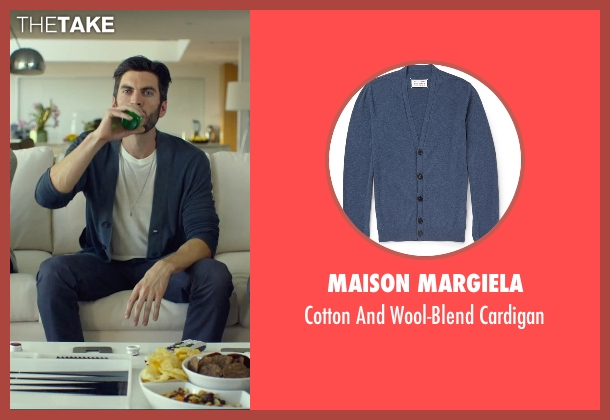 Maison Margiela blue cardigan from We Are Your Friends seen with Wes Bentley (Unknown Character)
