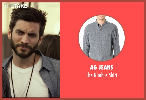 AG Jeans gray shirt from We Are Your Friends seen with Wes Bentley (James)