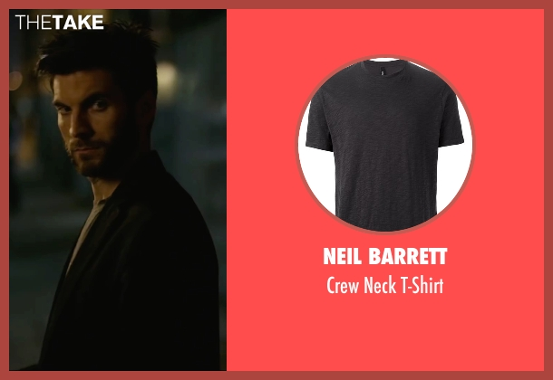 Neil Barrett gray t-shirt from We Are Your Friends seen with Wes Bentley (James)