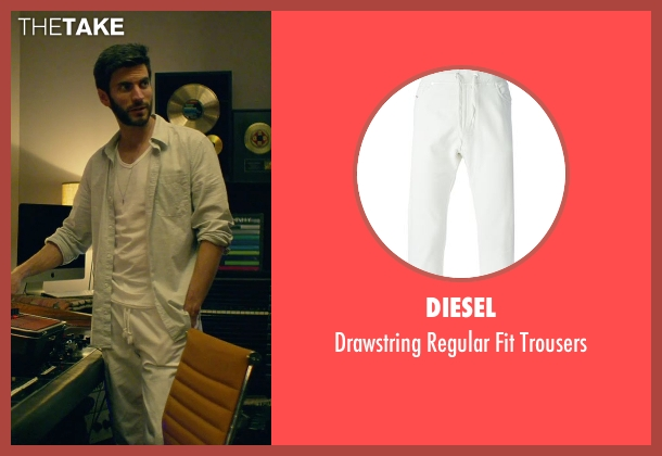 Diesel white trousers from We Are Your Friends seen with Wes Bentley (Unknown Character)