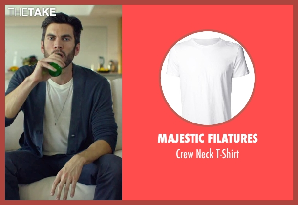 Majestic Filatures white t-shirt from We Are Your Friends seen with Wes Bentley (Unknown Character)