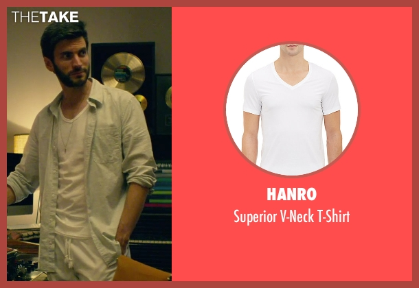 Hanro white t-shirt from We Are Your Friends seen with Wes Bentley (Unknown Character)