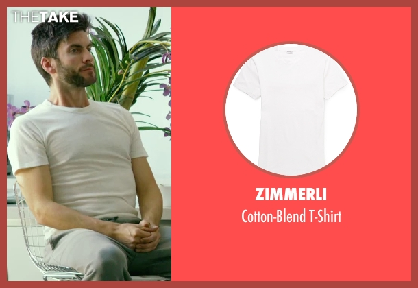 Zimmerli white t-shirt from We Are Your Friends seen with Wes Bentley (Unknown Character)