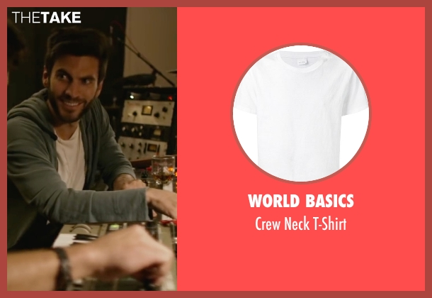 World Basics white t-shirt from We Are Your Friends seen with Wes Bentley (James)