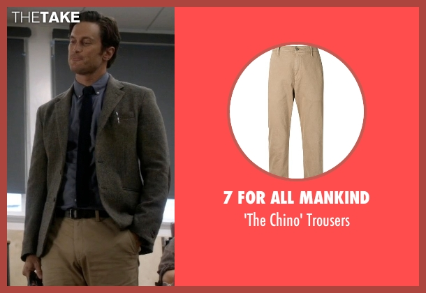 7 For All Mankind beige trousers from Scream Queens seen with Wes Gardner (Oliver Hudson)
